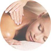 Relaxing massage using hands